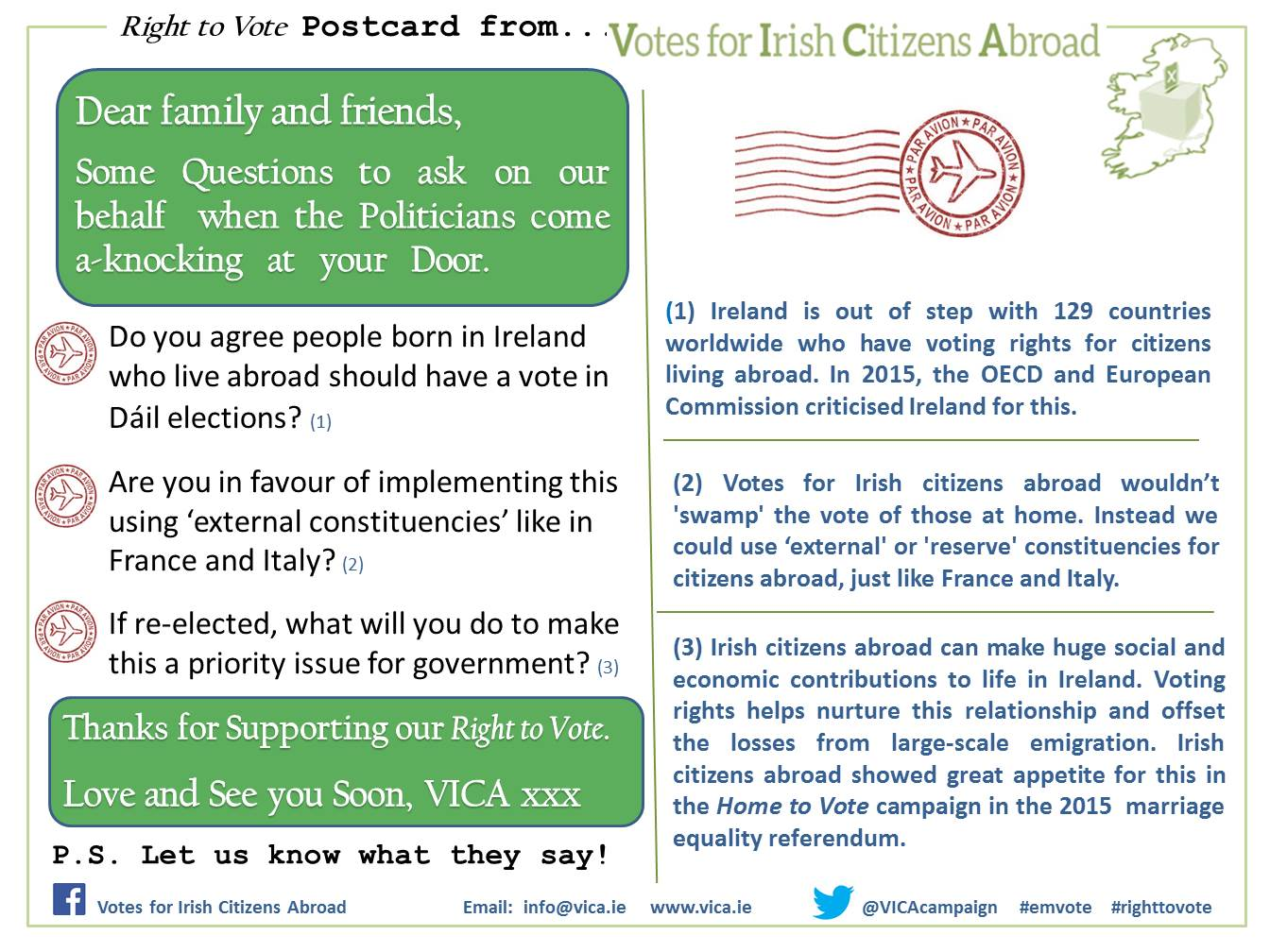 VICA Right to Vote Postcard